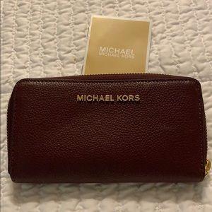 Burgundy Michael Kors Wallet - Brand New!!